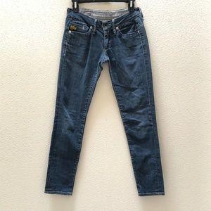 G Star Raw Denim Midge Skinny Jeans Made in Italy